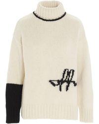 Off-White c/o Virgil Abloh Turtleneck Knitted Sweater - White