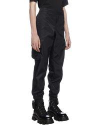 Prada Re-nylon Cargo Trousers - Black