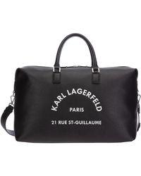 Karl Lagerfeld Rue St-guillaume Weekender - Black