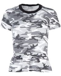 Balenciaga Gathered Camouflage T-shirt - Multicolour