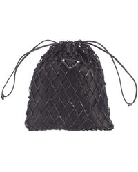 Prada Mesh Bucket Bag - Black