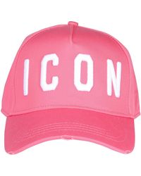 DSquared² Icon Embroidered Baseball Cap - Pink