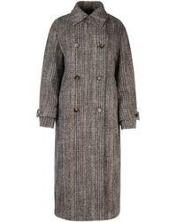 Stella McCartney Herringbone Long-line Coat - Grey