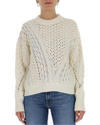 3.1 Phillip Lim Cable-knit Crewneck Sweater - White