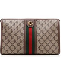 Gucci Ophidia GG Toiletry Case - Natural