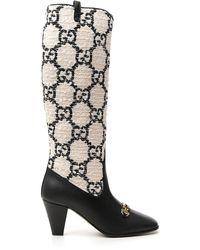 Gucci GG Horsebit Zumi Knee High Boots - Black