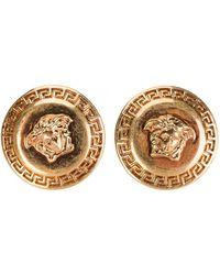 Versace Medusa Engraved Earrings - Metallic