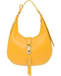 Miu Miu Strap Closure Hobo Bag - Yellow