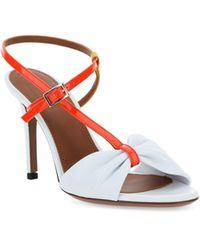 L'Autre Chose Ankle Strap Stiletto Sandals - White