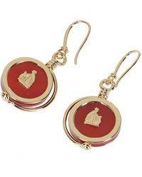 Lanvin Mother And Child Earrings - Red