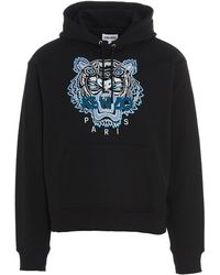 KENZO Tiger Embroidery Hoodie - Black