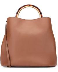 Marni Pannier Shoulder Bag - Brown