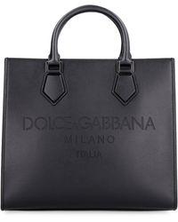 Dolce & Gabbana Edge Leather Bag - Black