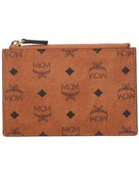 MCM Visetos Key Wallet - Brown