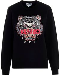 KENZO Tiger Embroidered Sweatshirt - Black