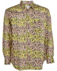 Comme des Garçons X Kaws Graphic Print Shirt - Multicolour
