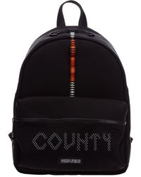 Marcelo Burlon Men's Rucksack Backpack Travel'origina County Tape - Black