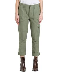 FRAME Cropped Cargo Pants - Green