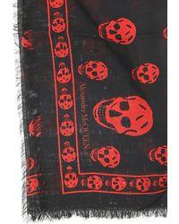 Alexander McQueen Skull Scarf - Red