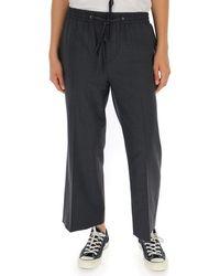 Miu Miu Straight Leg Cropped Trousers - Grey