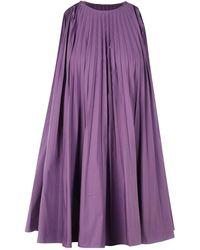 Valentino Pleated Mini Dress - Purple