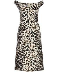 Prada Animalier Dress - Black