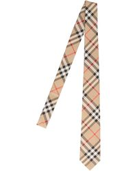 Burberry Vintage Check Classic Tie - Natural