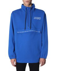 McQ Mcq Highest Order Funnel Neck Pullover - Blue