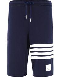 Thom Browne 4-bar Bermuda Shorts - Blue