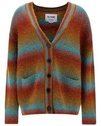 RE/DONE 90s Striped Oversize Cardigan - Multicolor