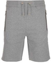 Balmain Drawstring Bermuda Shorts - Grey
