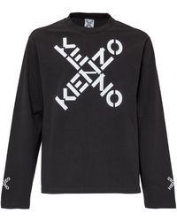 KENZO Big X Sport Skate Long Sleeve T-shirt - Black