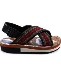 Marni - Striped Fussbett Sandals - Lyst