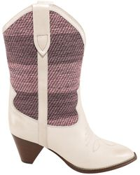 Isabel Marant Striped Patchwork Boots - Multicolour