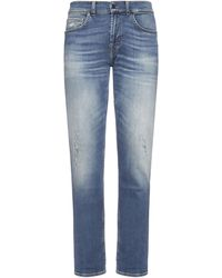7 For All Mankind Slimmy Tapered Stretch Tek Eco Breathless Jeans - Blue