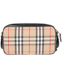 Burberry Classic Checked Shoulder Bag - Natural