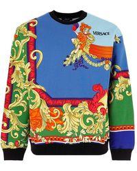 Versace Medusa Renaissance Crewneck Sweatshirt - Blue
