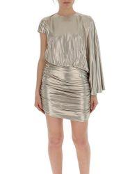 d57f604140ec Bebe One Shoulder Sequin Dress in Metallic - Lyst