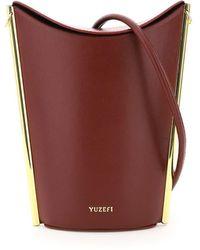 Yuzefi Pitta Bucket Bag - Red