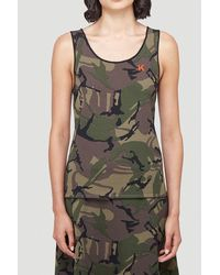 Kwaidan Editions Camouflage Print Tank Top - Multicolor