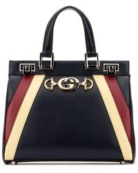 Gucci Zumi Small Top Handle Bag - Black