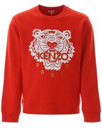 KENZO Tiger Logo Jumper - Red