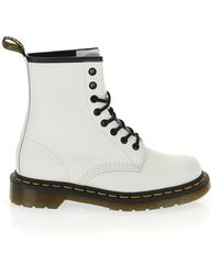 Dr. Martens Lace-up Ankle Boots - White