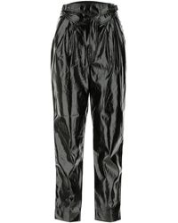 ROTATE BIRGER CHRISTENSEN Wilde Faux-leather Trousers - Black
