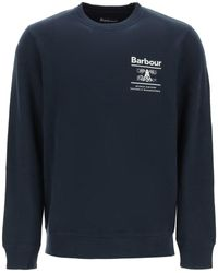 Barbour Reed Logo Sweatshirt - Blue