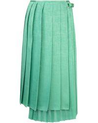 Fendi Pleated Asymmetric Skirt - Green