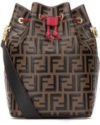 Fendi Mon Tresor Mini Bucket Bag - Brown
