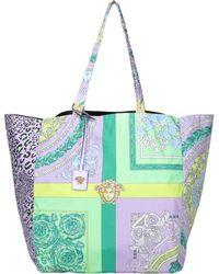 Versace Medusa Mix Print Tote Bag - Multicolour