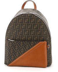 Fendi Ff Motif Backpack - Brown