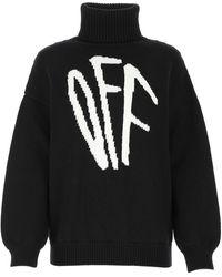 Off-White c/o Virgil Abloh Roll Neck Sweater - Black